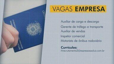 Confira as vagas de emprego para Goiás - Empresa oferece oportunidade para auxiliar de carga e descarga, gerente de tráfego e transporte e auxiliar de vendas.