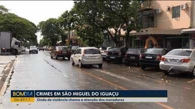 Moradores reclamam da violência em São Miguel do Iguaçu - Assassinatos foram registrados na cidade nos últimos dias.
