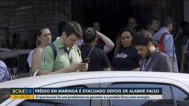Prédio em Maringá é evacuado após alarme falso - O que houve foi um problema no gerador e o prédio ficou sem energia.