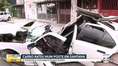Bom Dia São Paulo - Edição de Terça-Feira, 05/11/2019 - Ponte da Vila Maria, na Zona Norte de São Paulo, está liberada para trânsito. Jovem é morto a tiros após diversos assaltos na manhã desta terça-feira (5). Carro bate em poste na Zona Norte de São Paulo.