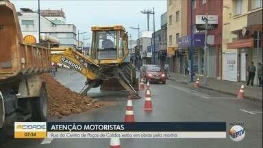 Ruas do Centro de Poços de Caldas passam por obras nesta terça-feira - Ruas do Centro de Poços de Caldas passam por obras nesta terça-feira