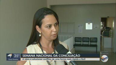 Semana Nacional de Conciliação ocorre até sexta-feira em Rio Claro - Evento busca resolver problemas de pensão alimentícia, divórcio, desapropriação e inventário.