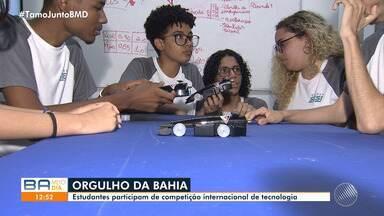 Estudantes baianos participam de competição internacional de robótica em Abu Dabi - Os jovens irão representar a Bahia em torneio de tecnologia nos Emirados Árabes. Eles desenvolveram um carro de corrida que foi considerado o mais rápido do país.