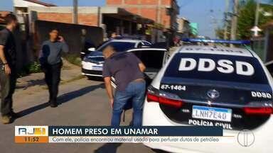 Operação contra furto de combustível é realizada no interior do Rio e no Paraná - Segundo Ministério Público e Polícia Civil, os furtos eram realizados em dutos em Macaé, Carapebus e Quissamã.