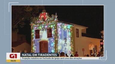 Tiradentes tem Natal com projeção de imagens na fachada da Igreja de Bom Jesus da Pobreza - De acordo com a organização do evento, a cidade deve receber 50 mil turistas.