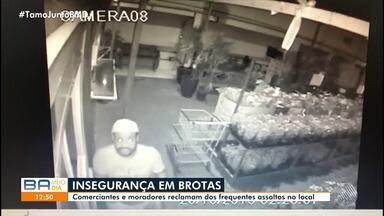 Flagrante: câmeras de segurança registram assalto em uma floricultura do bairro de Brotas - Imagens podem ajudar a identificar o criminoso.