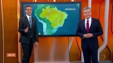 Quinta-feira será chuvosa em grande parte do Brasil - Regiões Sul e Sudeste terão o dia chuvoso. Nordeste terá tempo ensolarado.