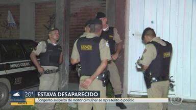 Sargento suspeito de matar mulher em Vespasiano se apresenta à polícia - Advogada de Glaysson de Souza Costa, de 46 anos, disse que o policial vai colaborar com as investigações.