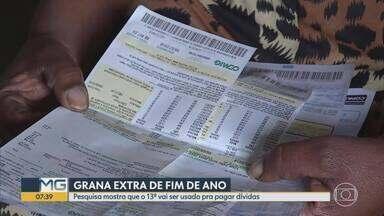 Dinheiro extra chega no fim do ano - Pesquisa mostra que o 13º vai ser usado pra pagar dívidas.