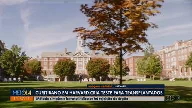 Curitibano cria teste mais barato que aponta se órgão transplantado está sendo rejeitado - Os estudos foram feitos em Harvard, uma das melhores universidades do mundo.