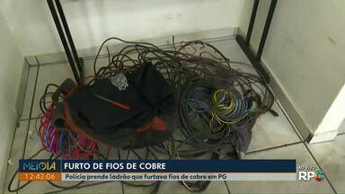 Homem é preso suspeito de furtar fios de cobre de empresa em Ponta Grossa - De acordo com a polícia, ele já tinha passagem na polícia pelo mesmo crime.