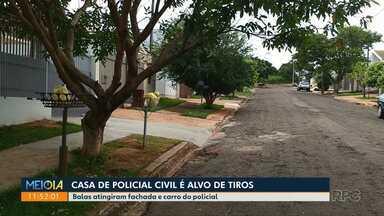 Casa de policial civil é alvo de disparos - Crime seria passional. Um suspeito foi preso.