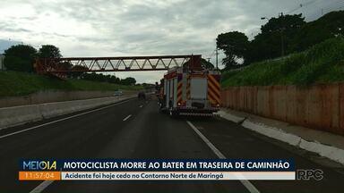 Maringá registra mais dois acidentes fatais com motociclistas - Acidentes aconteceram nas últimas horas.