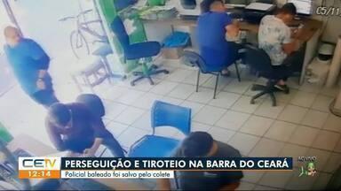 Policial é salvo por colete durante tiroteio na Barra do Ceará - Saiba mais no g1.com.br/ce