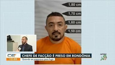 Chefe de facção que atuava no Ceará é preso em Rondônia quando tentava fugir - Saiba mais no g1.com.br/ce