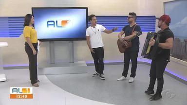 Thiaguinho Vasconcelos mostra trabalho musical no AL1 - Cantor segue em carreira solo cantando forró.