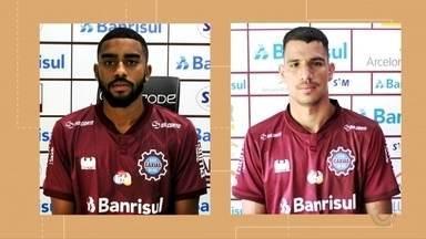 Dois jogadores deixam o Caxias - Andrews e Eduardo Grasson não vestem mais a camisa grená.