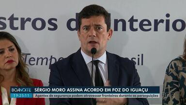 Ministro Sérgio Moro assina acordo em Foz do Iguaçu - Vereador de Ponta Grossa é detido pela PM por perturbação ao trabalho no Hospital Municipal, diz polícia