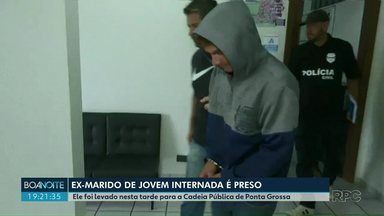 Polícia prende ex-marido que teria espancado mulher de 22 anos em Ponta Grossa - O homem já havia se apresentado na delegacia mas tinha sido liberado.