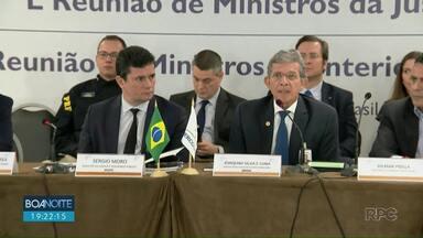 Em Foz do Iguaçu, Sérgio Moro assina acordo de segurança com países vizinhos - Agentes de segurança podem atravessar fronteiras durante as perseguições.