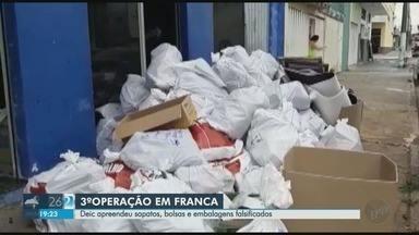 Deic apreende cinco toneladas de bolsas e calçados falsificados em Franca, SP - Produtos eram pirateados de marcas famosas nacionais e internacionais.