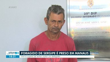 Investigado por comércio ilegal de armas de fogo em Sergipe é preso em Manaus - Suspeito também teria envolvimento com o tráfico de drogas, segundo polícia.
