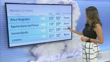 Confira a previsão do tempo para as cidades da região de Campinas nesta sexta-feira - Temperatura máxima deve chegar aos 28º C.