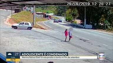 Adolescente que matou Raíssa é condenado - Ele cumprirá medida socioeducativa por até 3 anos por homicídio qualificado e estupro de vulnerável.