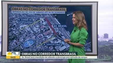 Fim de semana terá interdição na Avenida Brasil - undefined