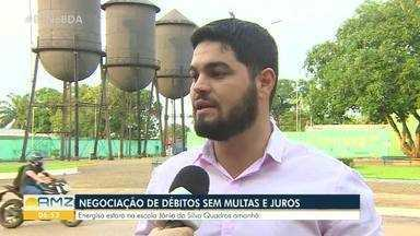 Energisa realiza mutirão para negociação de débitos sem multas e juros - O Energisa Comunidade vai acontecer neste sábado (9), na Escola Estadual Jânio da Silva Quadros.