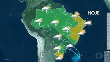 Veja a previsão do tempo desta sexta-feira (8) em todo o país - Os temporais não param nas regiões Sudeste e Centro-Oeste.