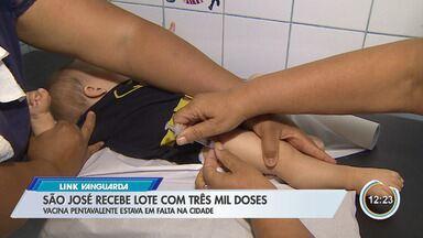 São José recebeu um novo lote da vacina pentavalente - Imunização protege contra cinco doenças.