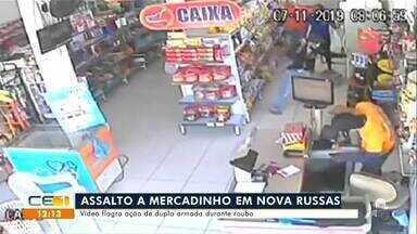 Filho de prefeito preso por assalto em Nova Russas; vídeo flagra furto em supermercado - Saiba mais no g1.com.br/ce