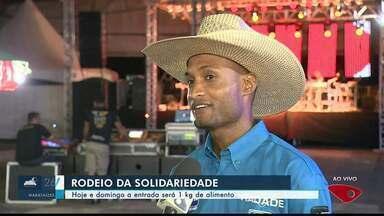 Primeiro Rodeio da Solidariedade acontece em Cachoeiro de Itapemirim, ES - Desta sexta a domingo, a entrada será 1 kg de alimento.