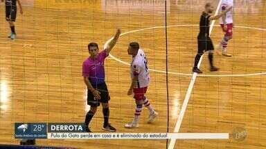Pulo do Gato perde partida decisiva em casa e é eliminado do estadual de futsal - O time tinha a vantagem do empate contra o Mogi das Cruzes mas não suportou a pressão.
