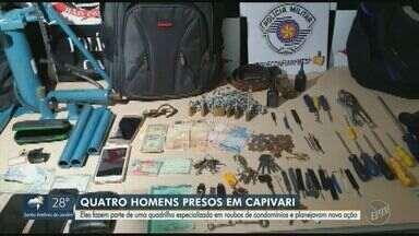 Polícia Civil de Capivari prende quatro homens especializados em roubos de condomínios - Segundo as investigações, a quadrilha já estava na cidade planejando nova ação há um mês.