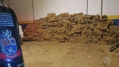 Polícia apreende mais de duas toneladas de maconha em Araçariguama - Mais de duas toneladas de maconha foram apreendidas em Araçariguama (SP). A droga estava em um galpão. Segundo a polícia, foi uma das maiores apreensões do ano na região. Durante a operação, um suspeito foi morto e outros três foram presos.