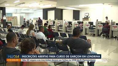 Curso de Garçom está com vagas abertas em Londrina - São 30 vagas e as inscrições devem ser feitas no SINE da Rua Pernambuco.