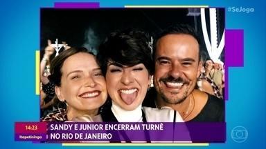Famosos marcam presença no show de Sandy e Junior - Dupla encerrou turnê no Rio de Janeiro