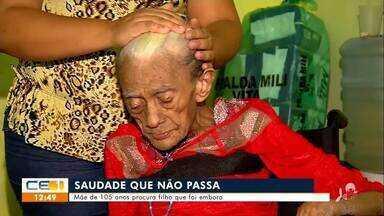 Mãe de 105 anos procura filho que foi embora há mais de 60 anos - Saiba mais no g1.com/ce
