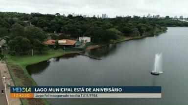 Lago Municipal de Cascavel completa 35 anos - Em meio a estiagem e nível baixo, lago faz aniversário.