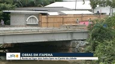 Ponte no Centro de Itapema deve ficar pronta só no final de dezembro - Ponte no Centro de Itapema deve ficar pronta só no final de dezembro