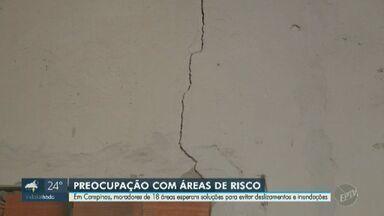 Prefeitura monitora 18 áreas onde podem ocorrer enchentes e deslizamentos em Campinas - De acordo com o secretário de habitação, a prefeitura irá realizar um estudo para encontrar outras alternativas antes de optar pela retirada das famílias.