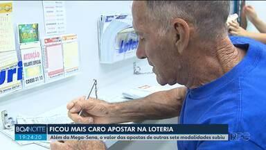 Está mais caro apostar nas loterias da Caixa Econômica - Além da Mega-Sena, subiu o preço da aposta de outras sete modalidades.