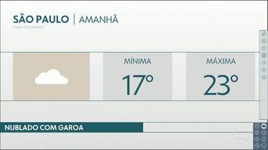 A terça-feira deve ter garoa na capital - Vento úmido e dia sem sol, impedem a temperatura de subir. Máxima de 23 graus