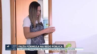 Falta fórmula especial na rede pública para bebês com intolerância à proteína do leite - O Neocate está zerado no estoque da Secretaria de Saúde e mães de bebês que dependem do produto reclamam.