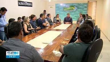 Prefeitos de municípios sergipanos que correm risco de serem extintos realizam reunião - Eles debateram estratégias de como mobilizar o congresso para modificar o que é intenção do governo federal.