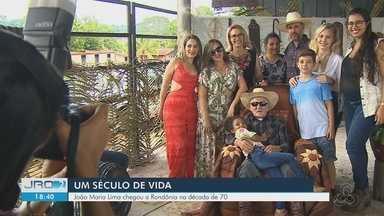 Aniversário comemora os 100 anos do patriarca de uma família de Porto Velho - Evento aconteceu no domingo (10).