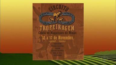 Confira os eventos realizados no campo - Circuito Tropeiragem será realizado em Couto de Magalhães de Minas, de 12 a 17 de novembro.