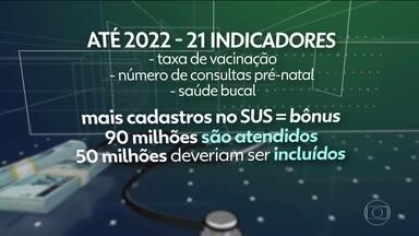 Ministério da Saúde aumenta verba para prefeituras com bons indicadores - Até 2022, taxas de vacinação e aumento de cadastro no SUS passam a ser avaliados.